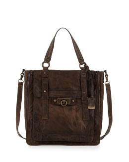 Frye Campus Leather Satchel Bag, Saddle