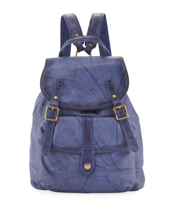 Campus Leather Backpack, Sapphire
