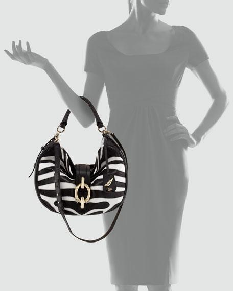 Sutra Patchwork Zebra Hobo Bag