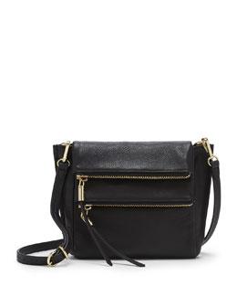 VC Signature Faye Double-Zip Crossbody Bag, Black