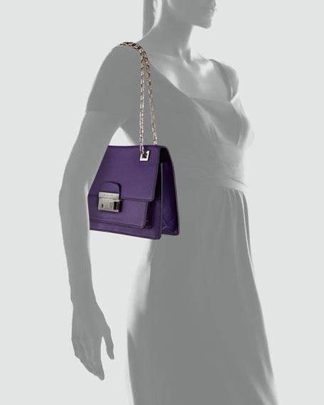 Gia Flap Shoulder Bag, Grape