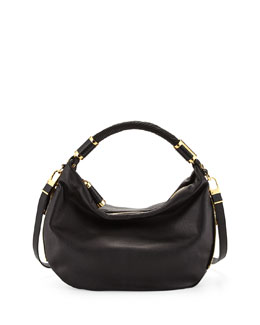 MICHAEL KORS Hobo with Python Trim, Black