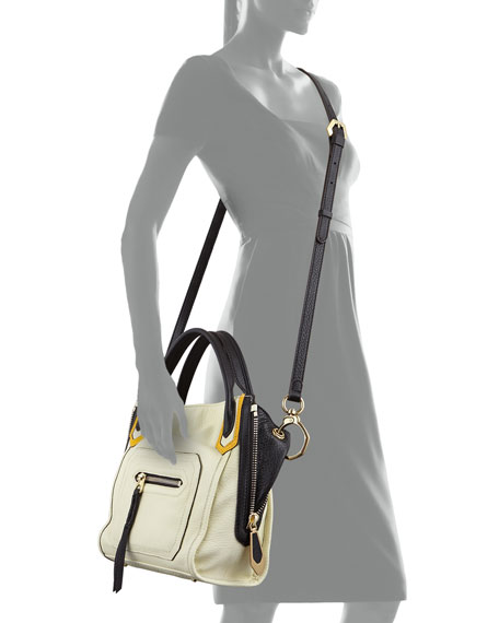 Ruby Colorblock Zip-Side Mini Tote Bag, Butter
