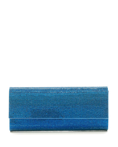 Ritz Fizz Crystal Clutch Bag, Silver Capri Blue
