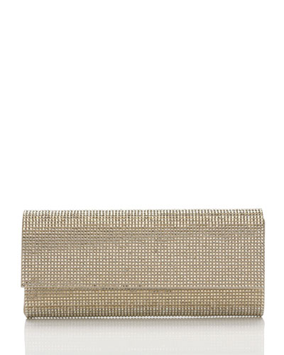 Ritz Fizz Crystal Clutch Bag, Silver Champagne
