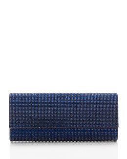 Judith Leiber Couture Ritz Fizz Crystal Clutch Bag, Silver Dark Indigo