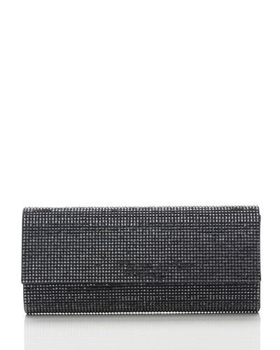 Ritz Fizz Crystal Clutch Bag, Silver Hematite