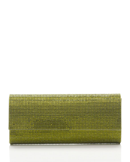 Ritz Fizz Crystal Clutch Bag, Silver Olivine