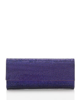 Judith Leiber Couture Ritz Fizz Crystal Clutch Bag, Silver Plum