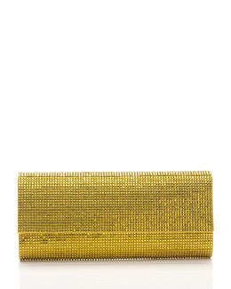 Judith Leiber Couture Ritz Fizz Crystal Clutch Bag, Silver Sunflower