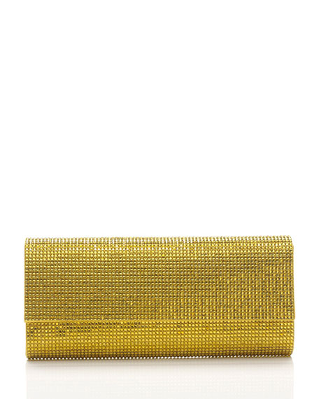 Ritz Fizz Crystal Clutch Bag, Silver Sunflower