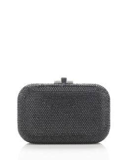 Judith Leiber Couture Crystal Slide-Lock Clutch Bag, Cosmo Jet