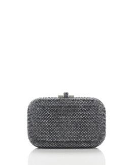 Judith Leiber Couture Crystal Slide-Lock Clutch Bag, Hematite