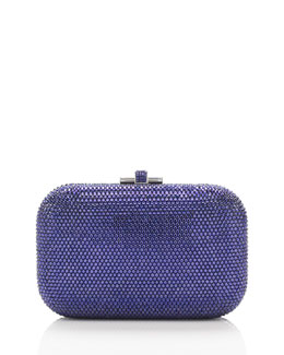 Judith Leiber Couture Crystal Slide-Lock Clutch Bag, Plum