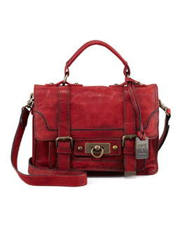Frye Cameron Small Satchel Bag, Burnt Red