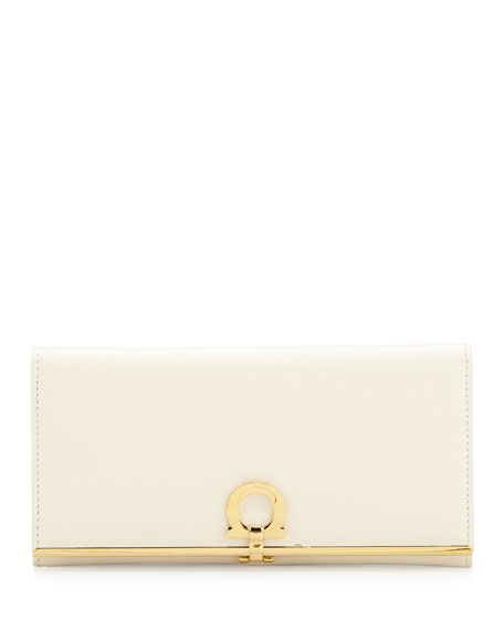 Icona Continental Flap Wallet, Butter