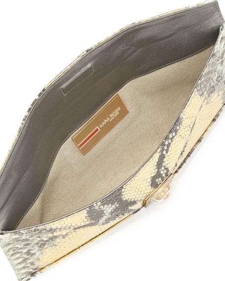 Prunella Stretch Python Clutch Bag