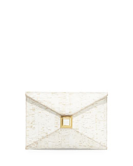 Kara Ross Prunella Cork Clutch Bag, White