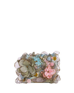 Marchesa Marisol Floral & Beaded Small Clutch Bag