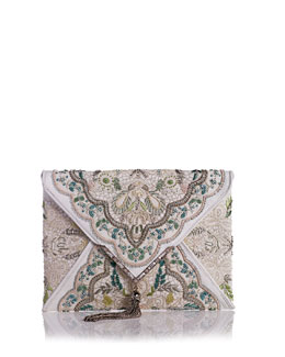Marchesa Elisa Embroidered Irish Lace Clutch Bag