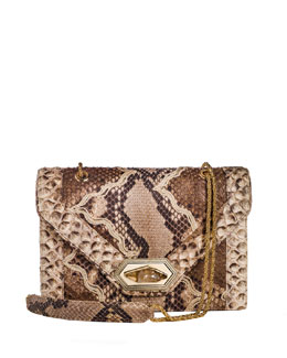 Marchesa Daphne Python Envelope Shoulder Bag