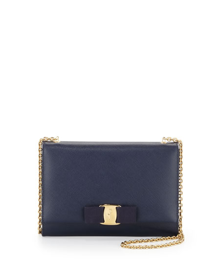 Miss Vara Bow Clip Crossbody Bag, Oxford Blue