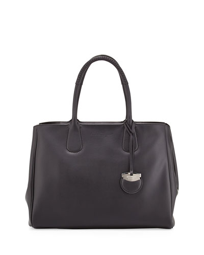 Nolita Large Gancio Tote Bag, Nero Black