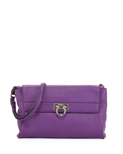 FERRAGAMO Abbey Mediterraneo Shoulder Bag, Grape
