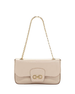 Salvatore Ferragamo Paris Crossbody, New Bisque