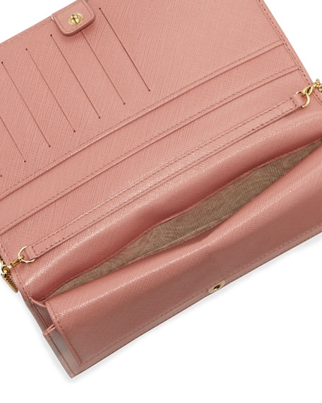 Miss Vara Bow Clip Wallet-on-a-Chain, Blush