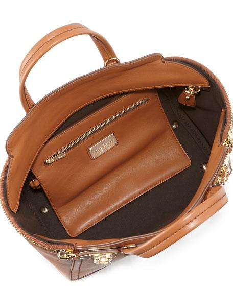 Verve Light Small Gancio Zip Tote Bag, Palissandro (Tan)