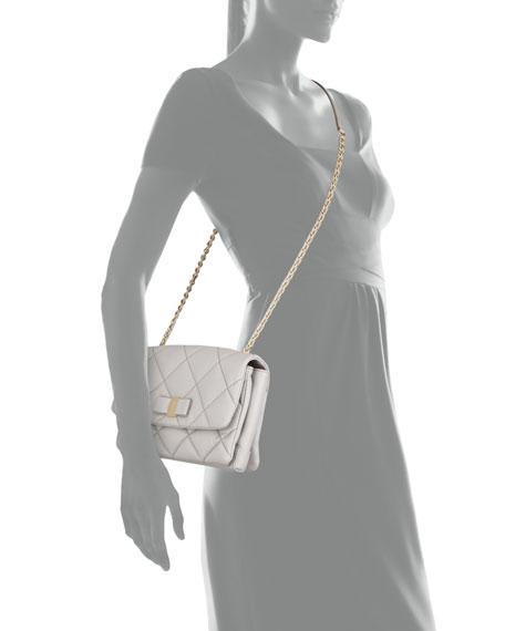 Vara Soft Quilted Shoulder Bag, Plume