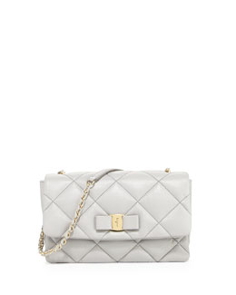 Salvatore Ferragamo Vara Soft Quilted Shoulder Bag, Plume