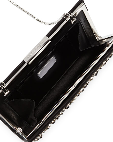 Cocktail Kameron Crystal Clutch Bag, Nero Black