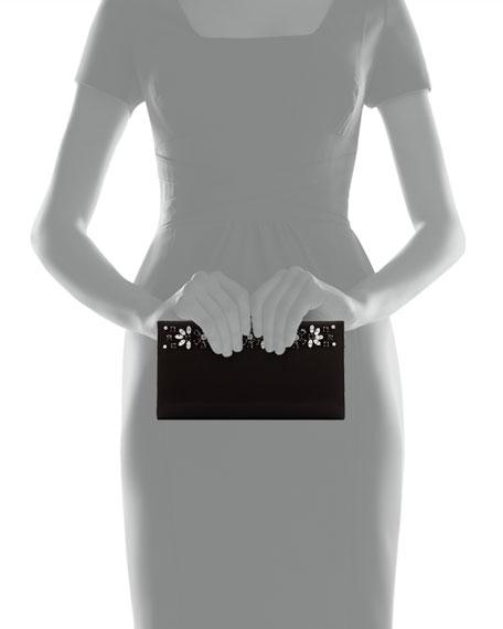 Cocktail Kameron Crystal Clutch Bag, Nero Black