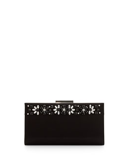 Salvatore Ferragamo Cocktail Kameron Crystal Clutch Bag, Nero Black