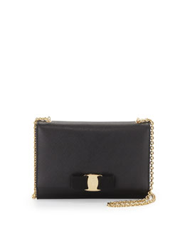 Salvatore Ferragamo Miss Vara Bow Clip Crossbody Bag, Nero (Black)