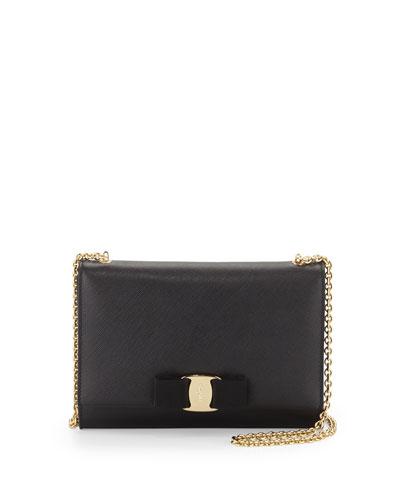 Salvatore Ferragamo Miss Vara Bow Clip Crossbody Bag, Nero (Black)
