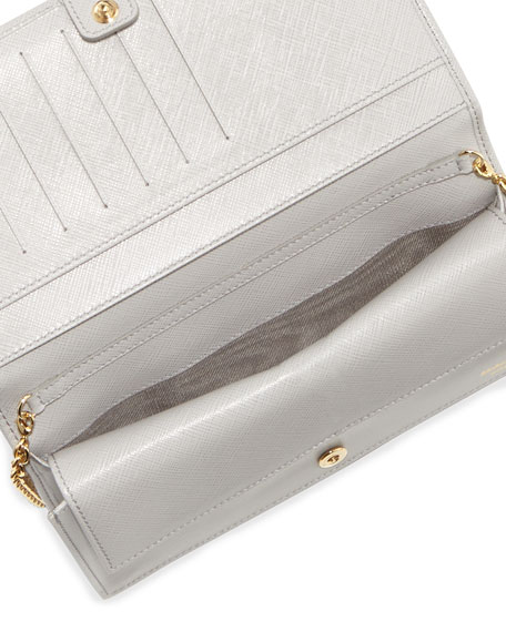 Miss Vara Bow Clip Wallet-on-a-Chain, Plume