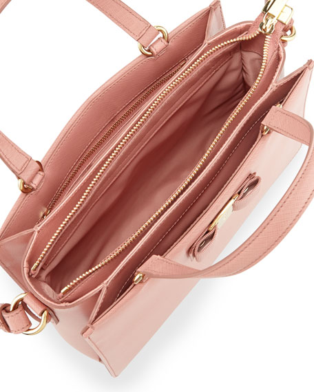 salvatore ferragamo tracy saffiano crossbody pink leather satchel ... 02a3488c844a3