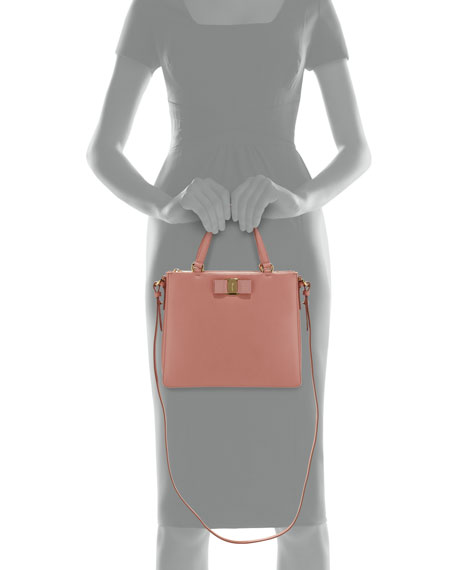 Tracy Saffiano Vara Satchel Bag, Blush