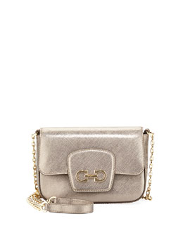Salvatore Ferragamo Paris Crossbody, Oro