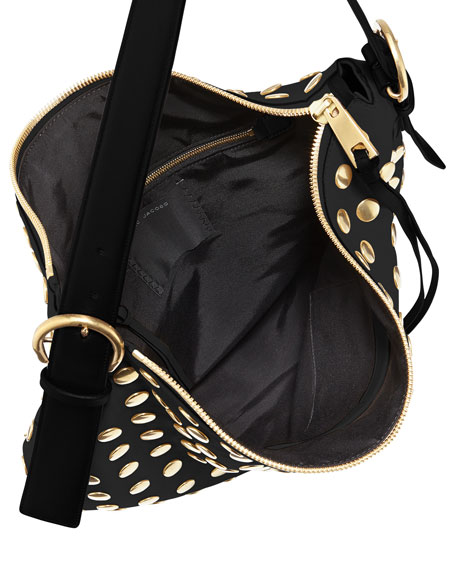 Nomad Studded Hobo Bag, Black