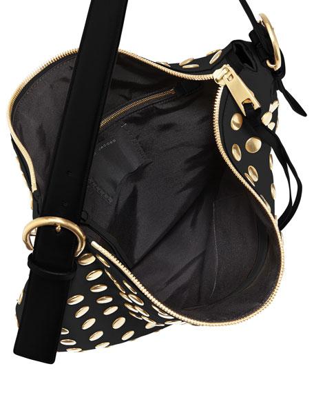 Nomad Studded Hobo Bag, Black
