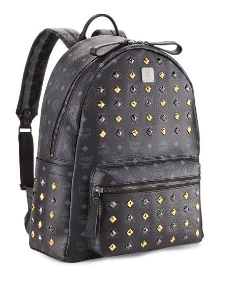 Stark Studded Large Backpack, Black