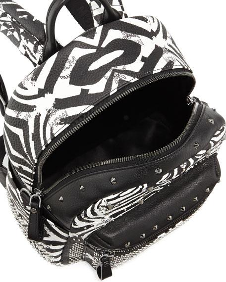 ac5b07d975b7 MCM Funky Zebra Small Backpack