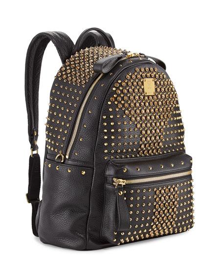 Stark Special Crystal-Studded Backpack, Black