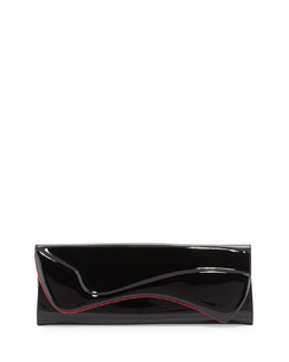 Christian Louboutin Pigalle Patent Clutch Bag, Black