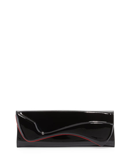 Pigalle Patent Clutch Bag, Black
