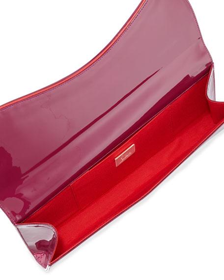 Pigalle Patent Clutch Bag, Magenta